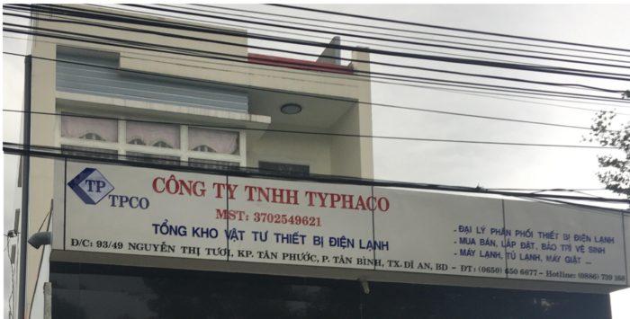 Giới thiệu về CÔNG TY TNHH TYPHACO 0